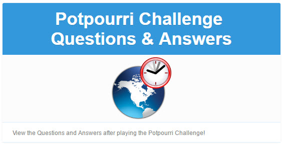 National Weekly Potpourri 8-Minute Civics Challenge Q&As